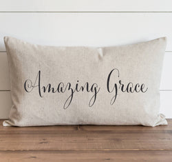 Amazing Grace Pillow Cover. - Porter Lane Home
