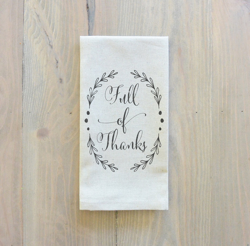 Full Of Thanks Napkin_table setting, tableware, place setting, housewarming gift, party, dinner, event, thanksgiving, fall - Porter Lane Home