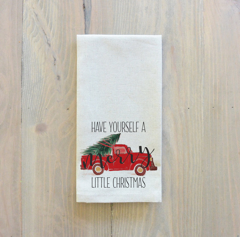 Have Yourself A Merry Little Christmas Truck Napkin - Porter Lane Home