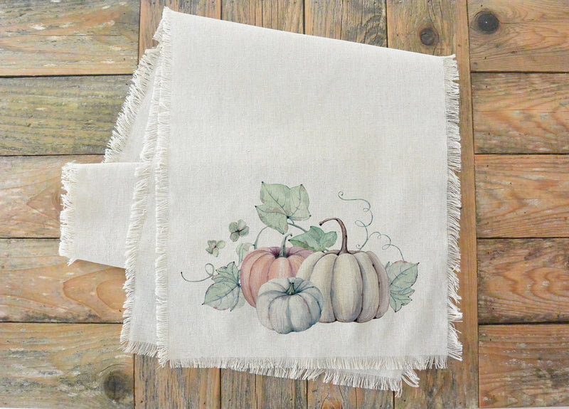 Watercolor Pumpkins {Style 2} Table Runner - Porter Lane Home