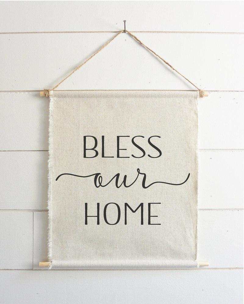 Bless Our Home Hanging Wall Banner - Porter Lane Home