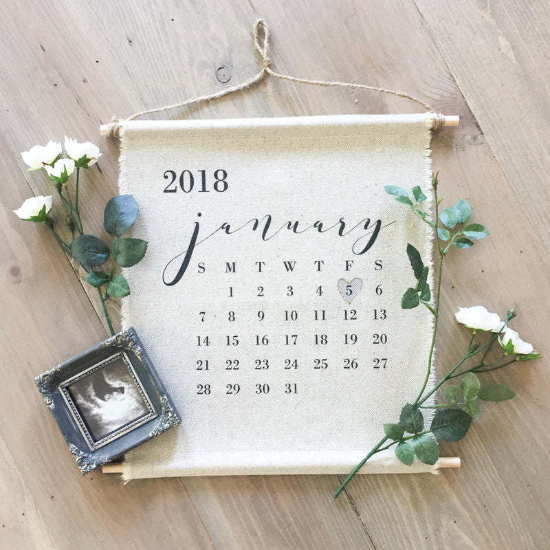 Custom Calendar Announcement Hanging Wall Banner - Porter Lane Home