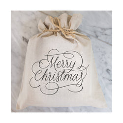 Merry Christmas Gift Bag // Gift Wrap // Packaging // Present // Party Favor // Gift Bag // Hostess Gift - Porter Lane Home