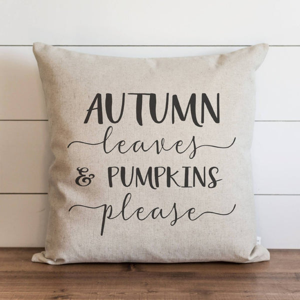 Autumn Leaves & Pumpkins Please Pillow Cover - Porter Lane Home