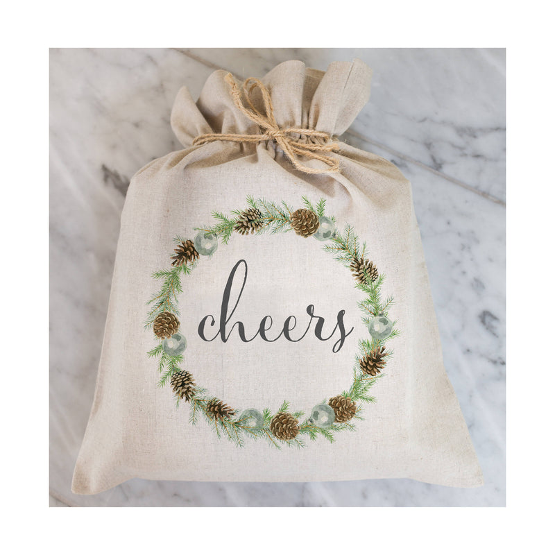 Cheers Gift Bag // Gift Wrap // Packaging Bag // Present // Party Favor // Wedding Favor // Gift Bag // Hostess Gift - Porter Lane Home