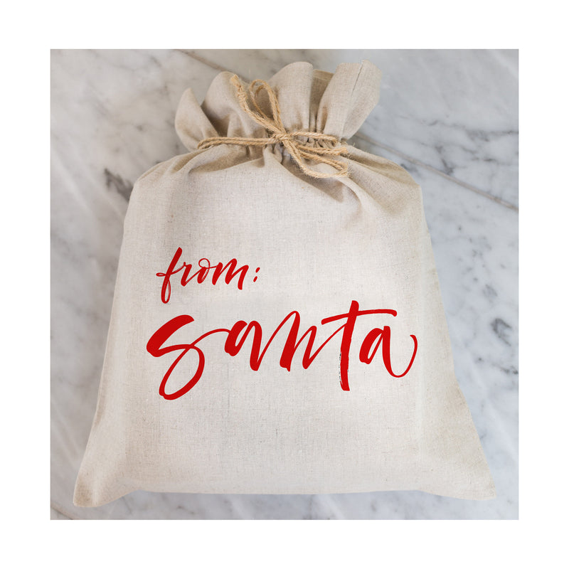 From Santa Gift Bag // Gift Wrap // Packaging // Present // Party Favor // Gift Bag // Hostess Gift - Porter Lane Home