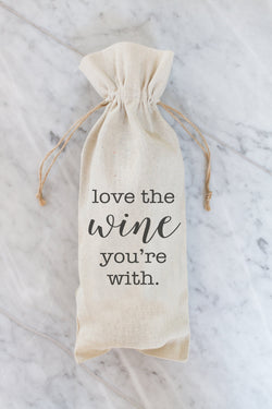 Love The Wine You're With Wine Bag - Porter Lane Home