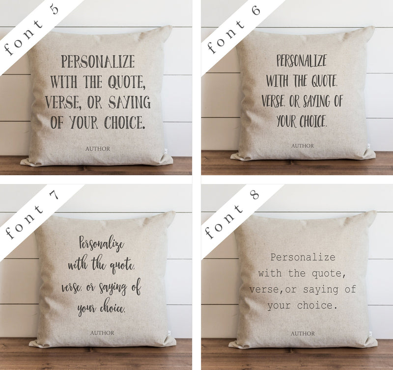 Custom Quote Pillow Cover. - Porter Lane Home
