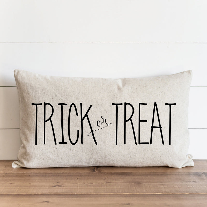 Halloween Pillow Cover // Trick or Treat_caps // Fall Pillow // Autumn Pillow Cover // Thanksgiving // Fall Throw // Autumn Home Decor - Porter Lane Home