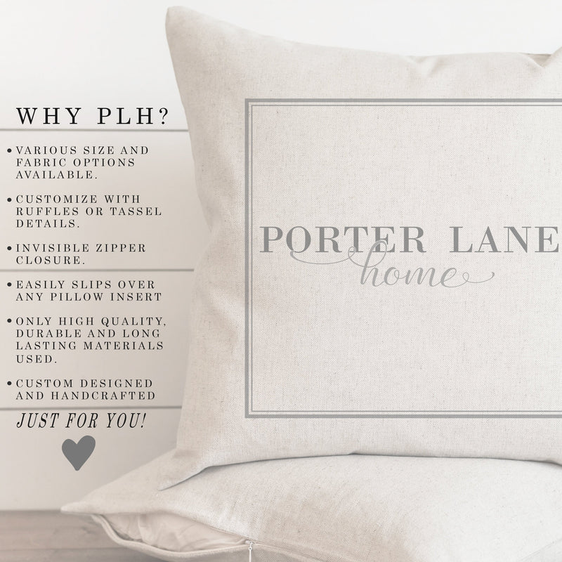 Red Grain Stripe Pillow Cover. - Porter Lane Home