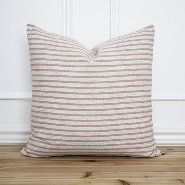 Blush Pink Stripe Pillow Cover