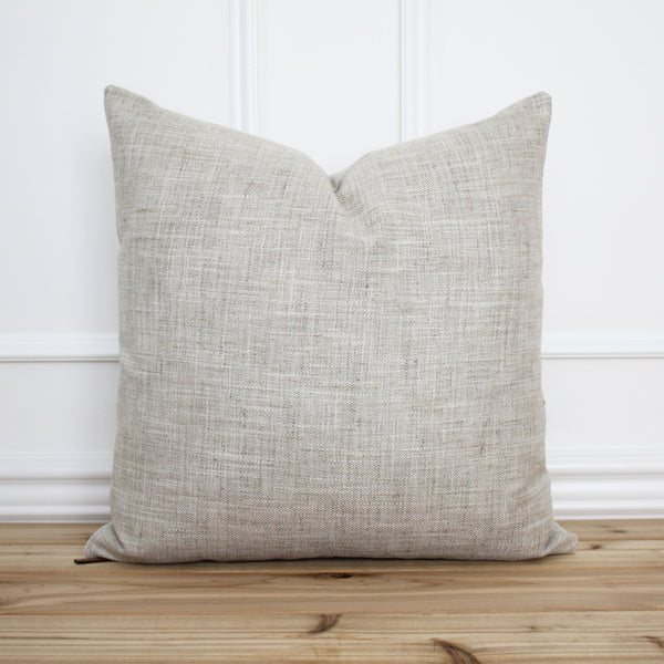 Neutral Tweed Pillow Cover