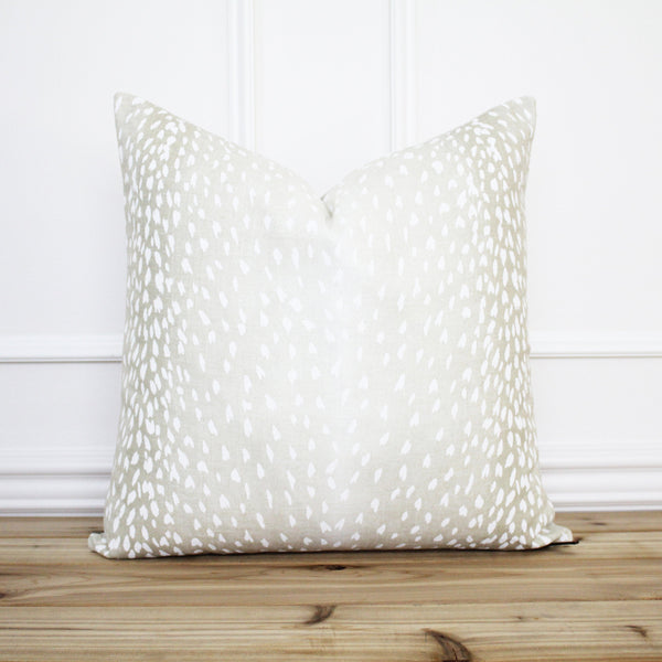 Antelope Pillow Cover Dove Gray
