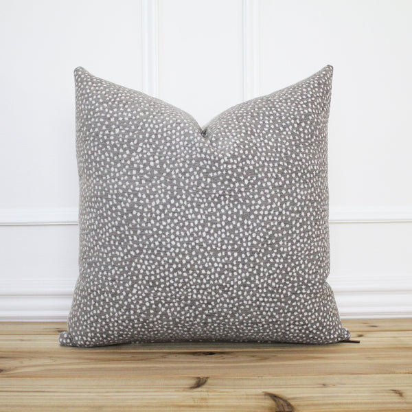 Gray Dot Pillow Cover