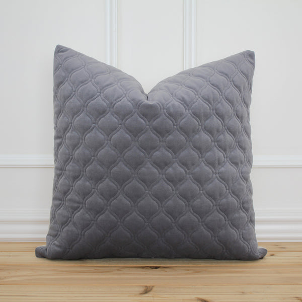 Gray Velvet Pillow Cover
