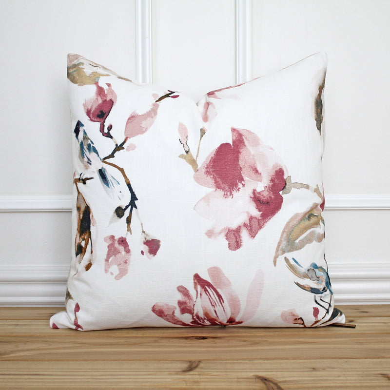 Watercolor Floral Pillow Cover