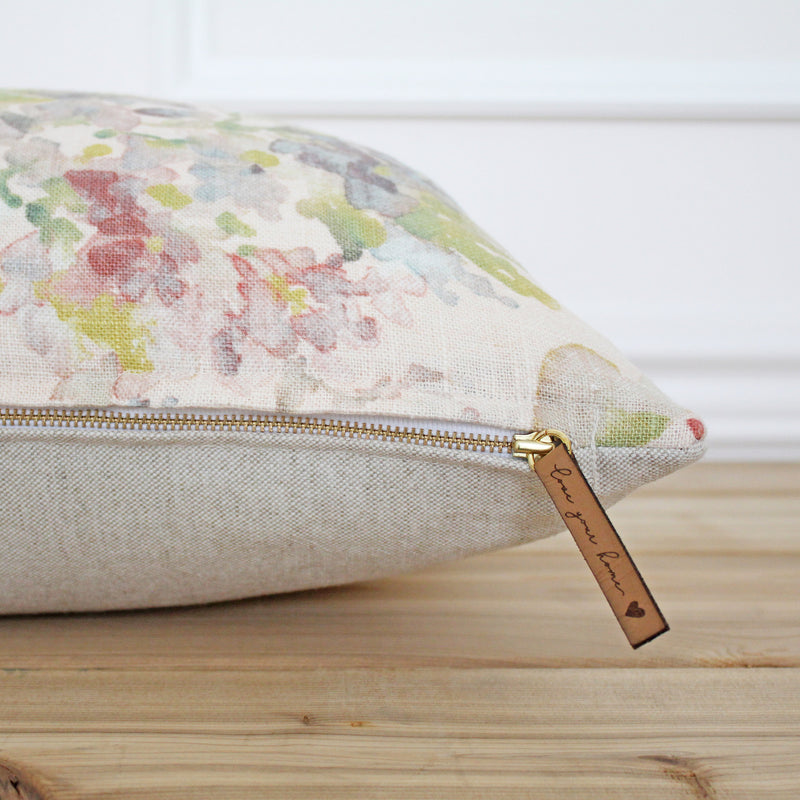 Pink Floral Pillow Cover