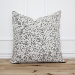 Gray Dot Pillow Cover • Gray Spot Pillow • Grey 20x20 Textured Pillow • Designer Pillow • Decorative Pillow • | Willow Alabaster
