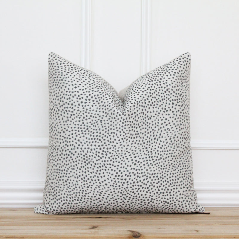 Charcoal Dot Pillow Cover • Gray Spot Pillow • Grey 20x20 Textured Pillow • Designer Pillow • Decorative Pillow • Lumbar Pillow | Hudson