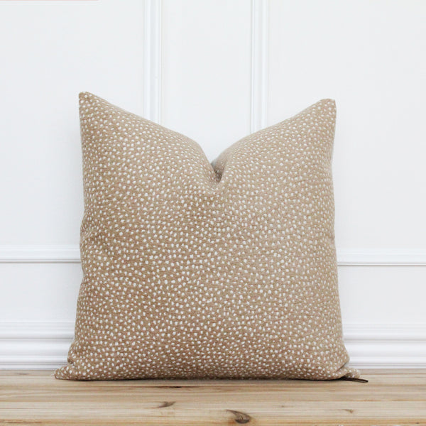 Gold Dot Pillow Cover • Handmade Designer Pillow Cover • Decorative Pillow Covers • Farmhouse Throw Pillow Cover • 20 x 20 • 16 x 26 || Owen