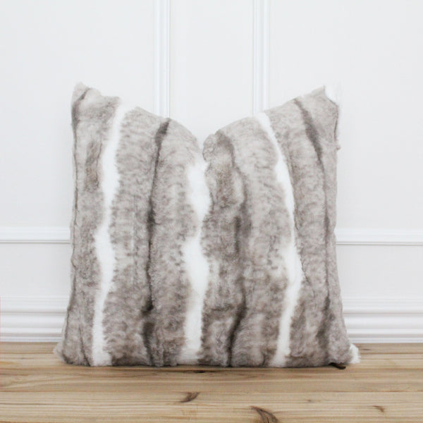 Faux Fur Pillow Cover • Textured Pillows • Farmhouse Pillow Cover • Modern Pillow Cover • Neutral Throw Pillow • Rustic Pillow Cover | Gavin