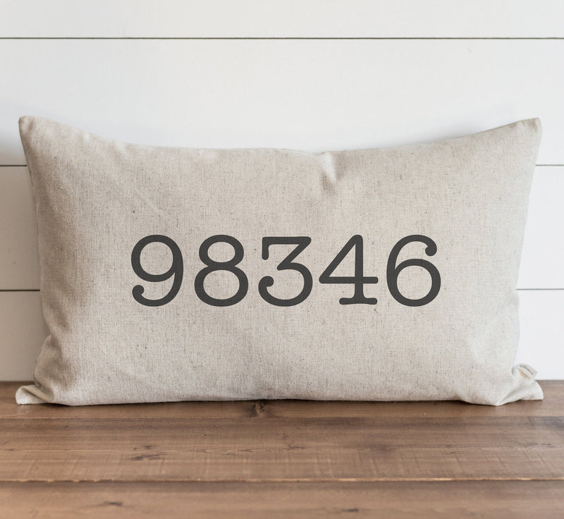Customized Zip Code Pillow Cover // 16 x 26 Pillow Cover // Wedding Gift // Throw Pillow // Gift for Her // Accent Pillow
