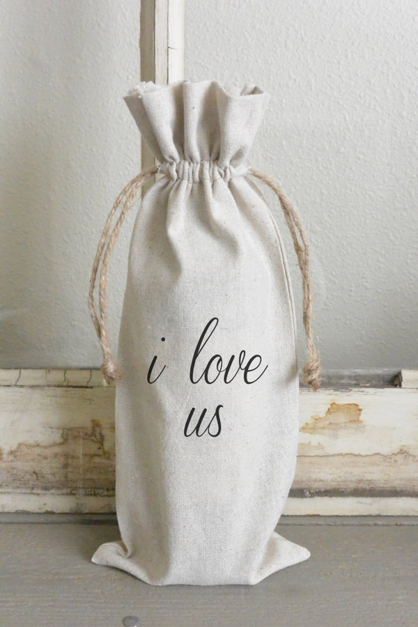 I Love Us Wine Bag - Porter Lane Home