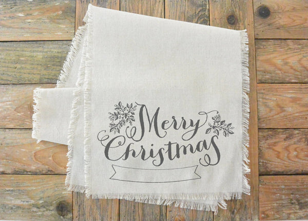 Merry Christmas Banner Table Runner - Porter Lane Home