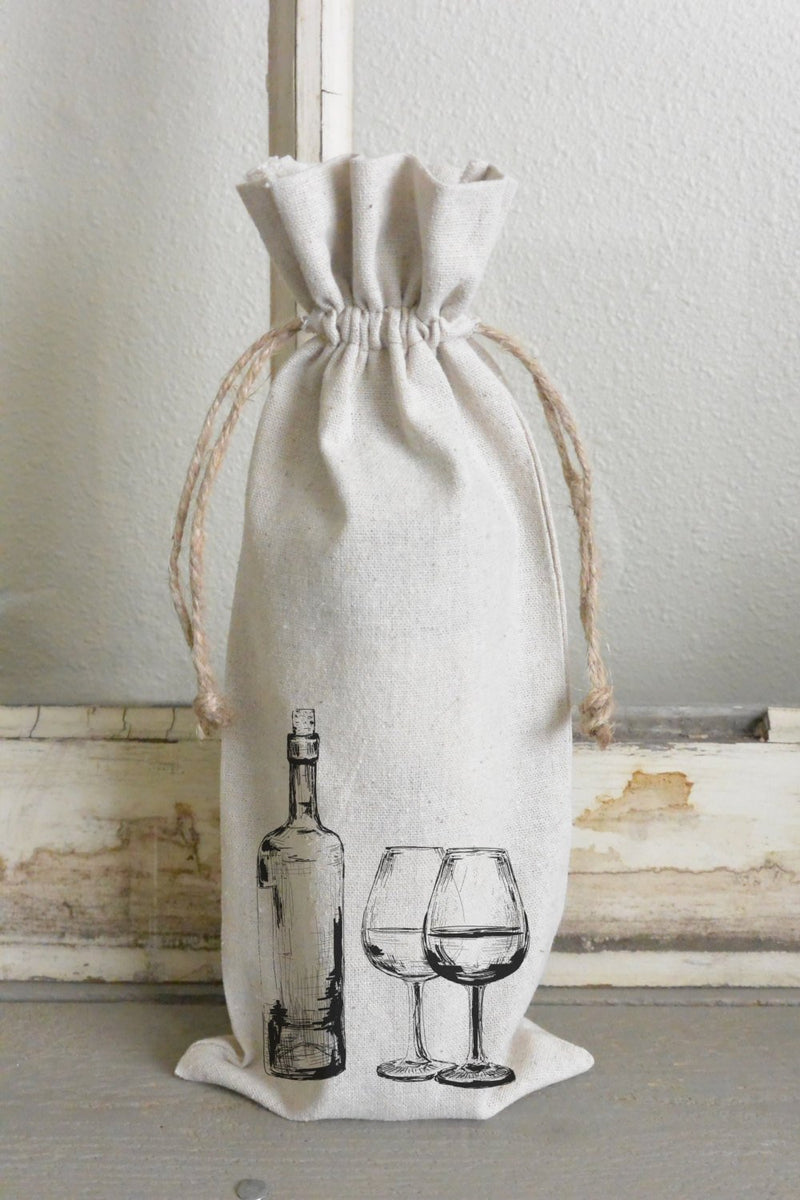 Wine bottle/glass Wine Bag_holiday, wine, present, party favor, wedding favor, gift bag, party, hostess gift