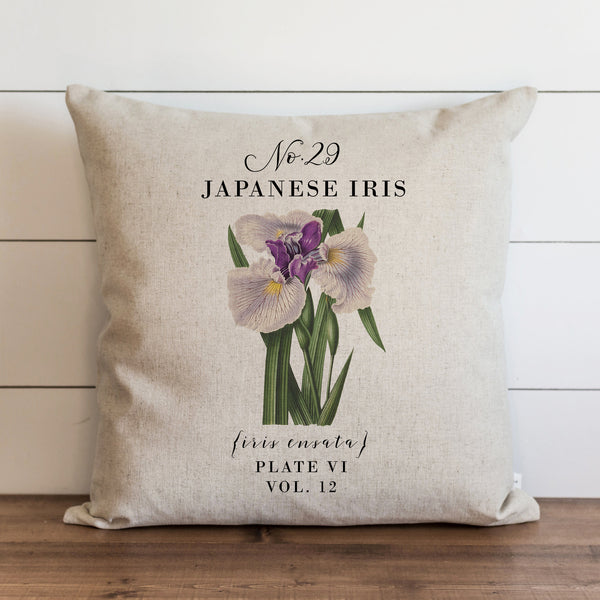 Botanical Japanese Iris Pillow Cover. - Porter Lane Home
