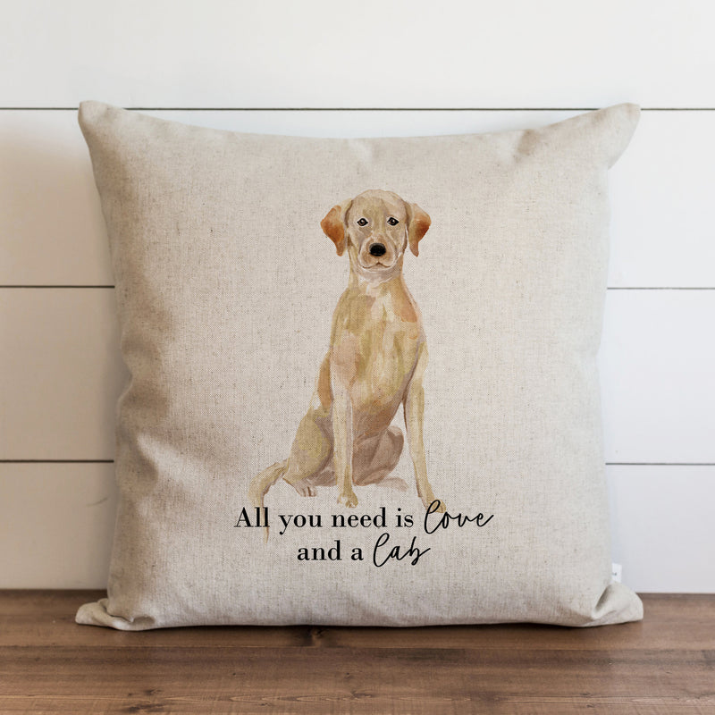 All You Need is Love {Lab} Pillow Cover. - Porter Lane Home