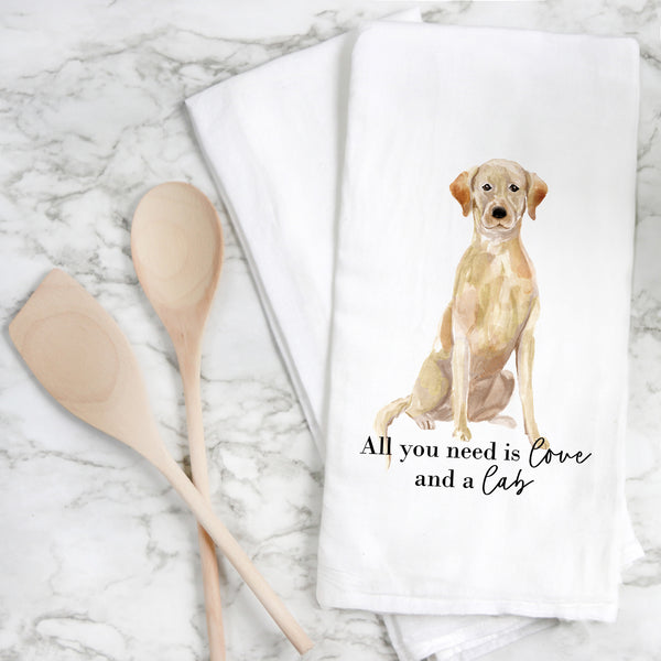 All You Need {Lab} Tea Towel - Porter Lane Home