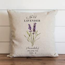 Botanical Lavender Pillow Cover. - Porter Lane Home