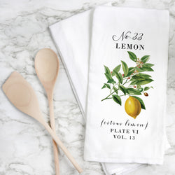 Botanical Lemon Tea Towel