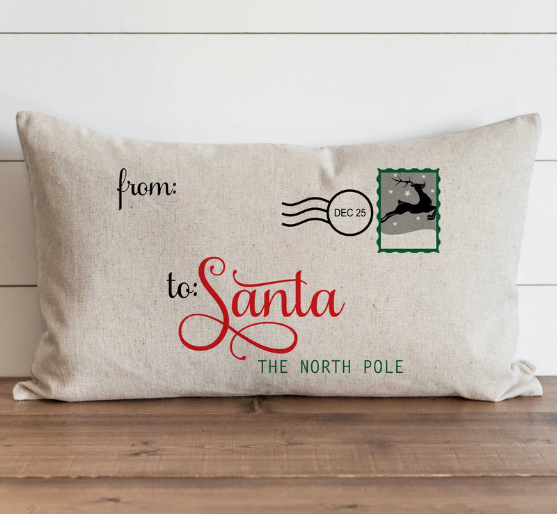 Letter to Santa Pillow Cover. - Porter Lane Home