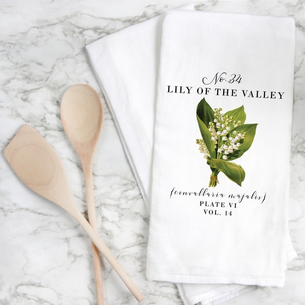 Botanical Lily of The Valley Tea Towel - Porter Lane Home