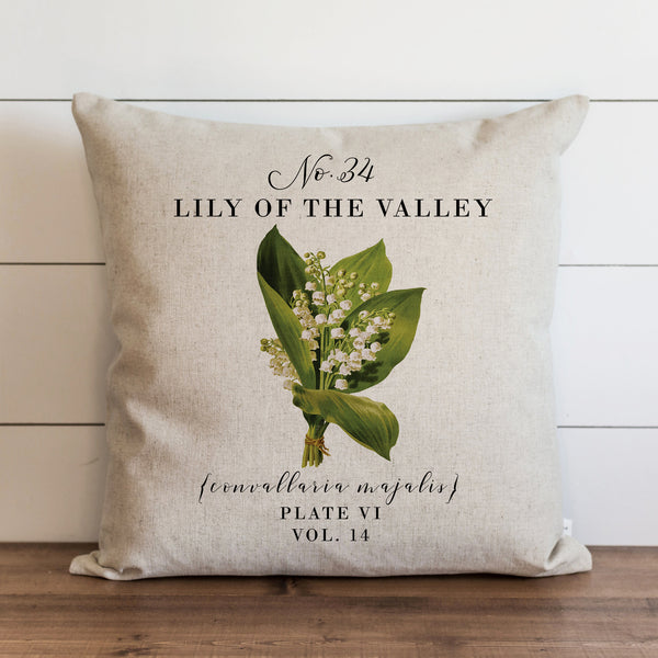 Botanical Lily of the Valley Pillow Cover. - Porter Lane Home