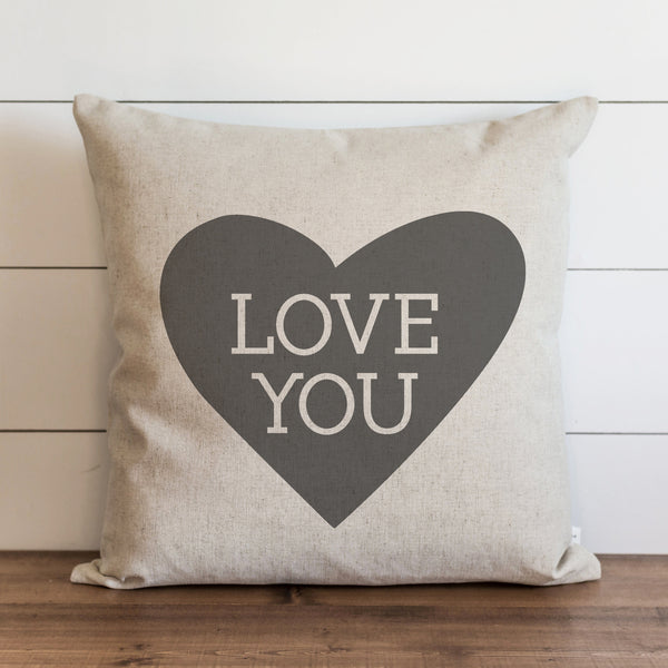 Love You Heart Pillow Cover. - Porter Lane Home