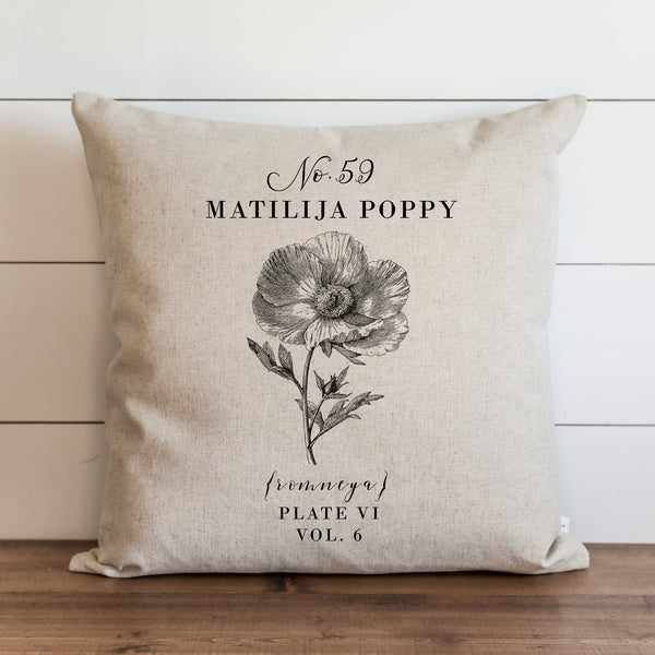 Botanical Matilija Poppy Pillow Cover. - Porter Lane Home