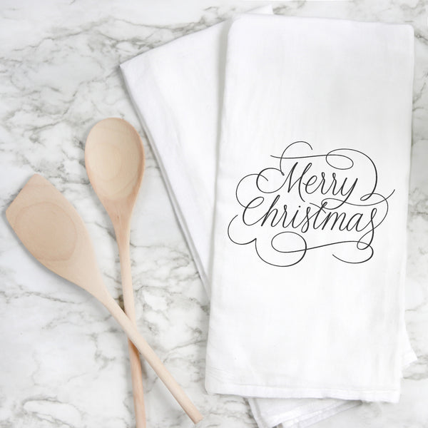 Merry Christmas Tea Towel - Porter Lane Home