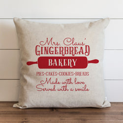 Mrs Claus Gingerbread Pillow Cover. - Porter Lane Home