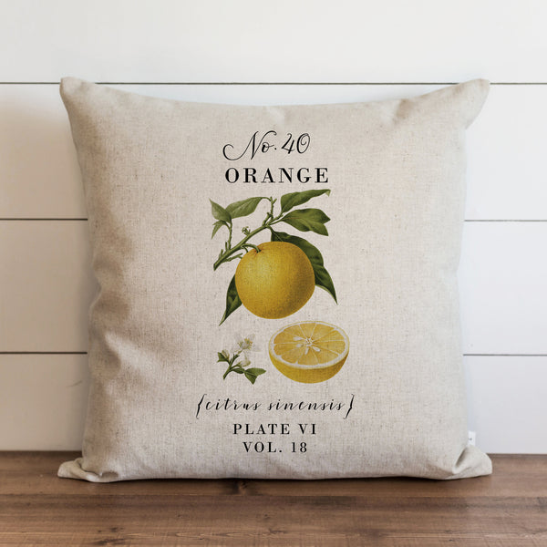 Botanical Orange Pillow Cover. - Porter Lane Home
