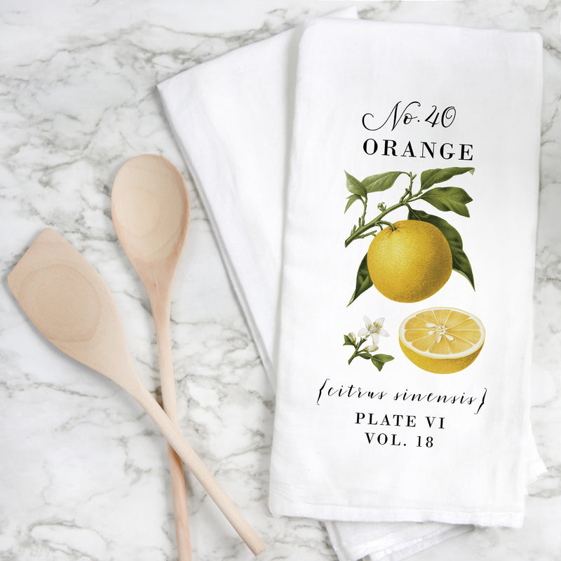 Botanical Orange Tea Towel