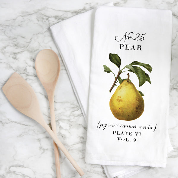 Botanical Pear Tea Towel