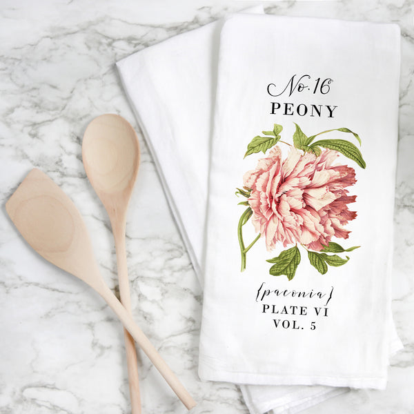 Botanical Peony Tea Towel - Porter Lane Home