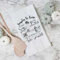 Pumpkin Pie Recipe Tea Towel