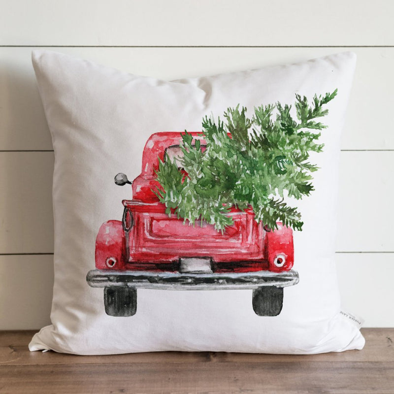 Red Truck {Style 2} Pillow Cover. - Porter Lane Home