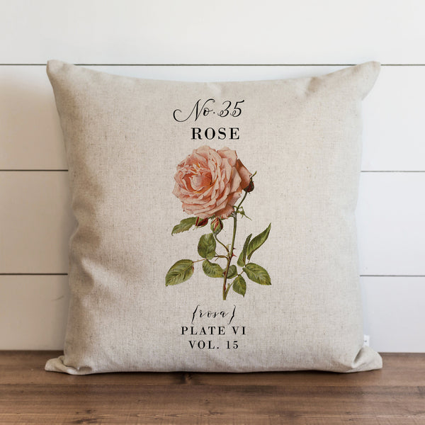 Botanical Rose {Style 2} Pillow Cover. - Porter Lane Home