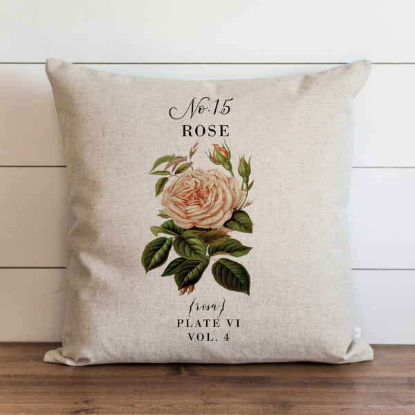 Botanical Rose {Style 1} Pillow Cover. - Porter Lane Home