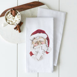 Santa Secret Tea Towel